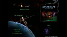 Starcraft Anthology - Menu Principal